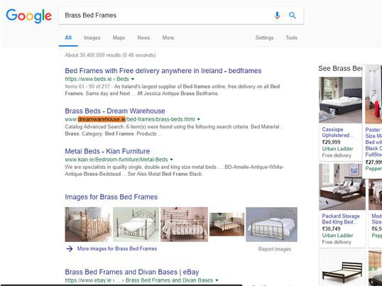 """Top 5 Rank in Competitive Market """"Furniture SHOP"""" SEO"""